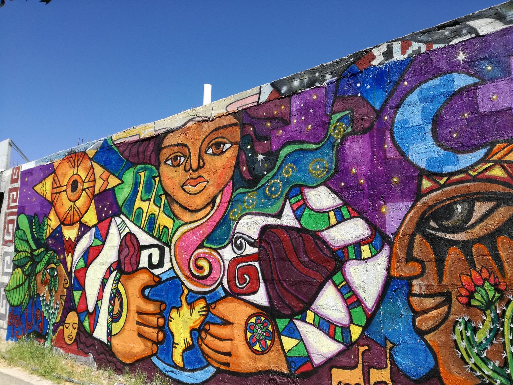 Casa de la Cultura de Vicuña luce nuevo y colorido mural alusivo a culturas originarias como resultado de taller de pintura