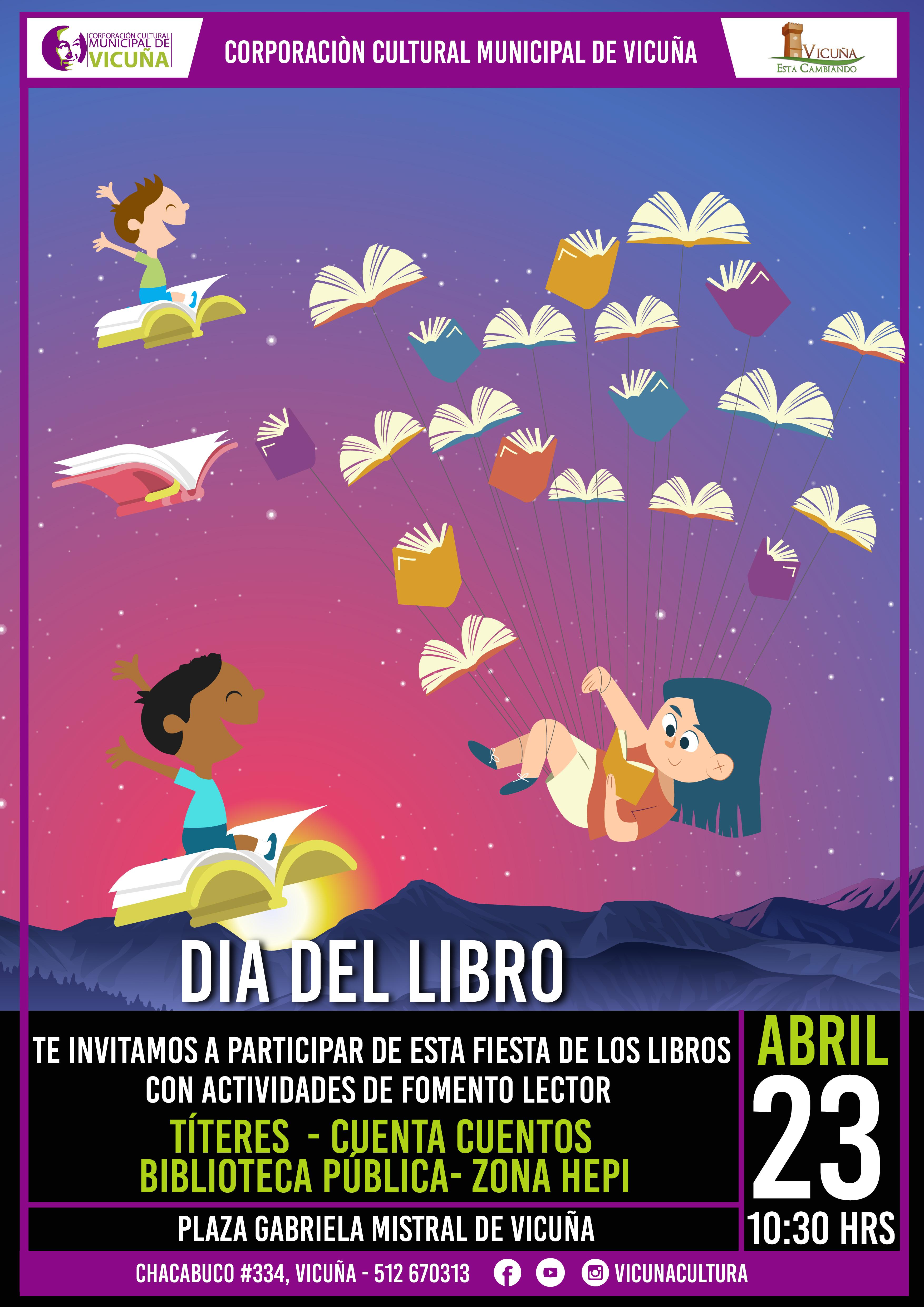 Corporación Cultural de Vicuña celebra el Día del Libro con actividades para la primera infancia