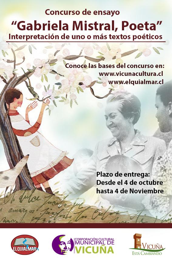 Bases del concurso de ensayo «Gabriela Mistral, Poeta»