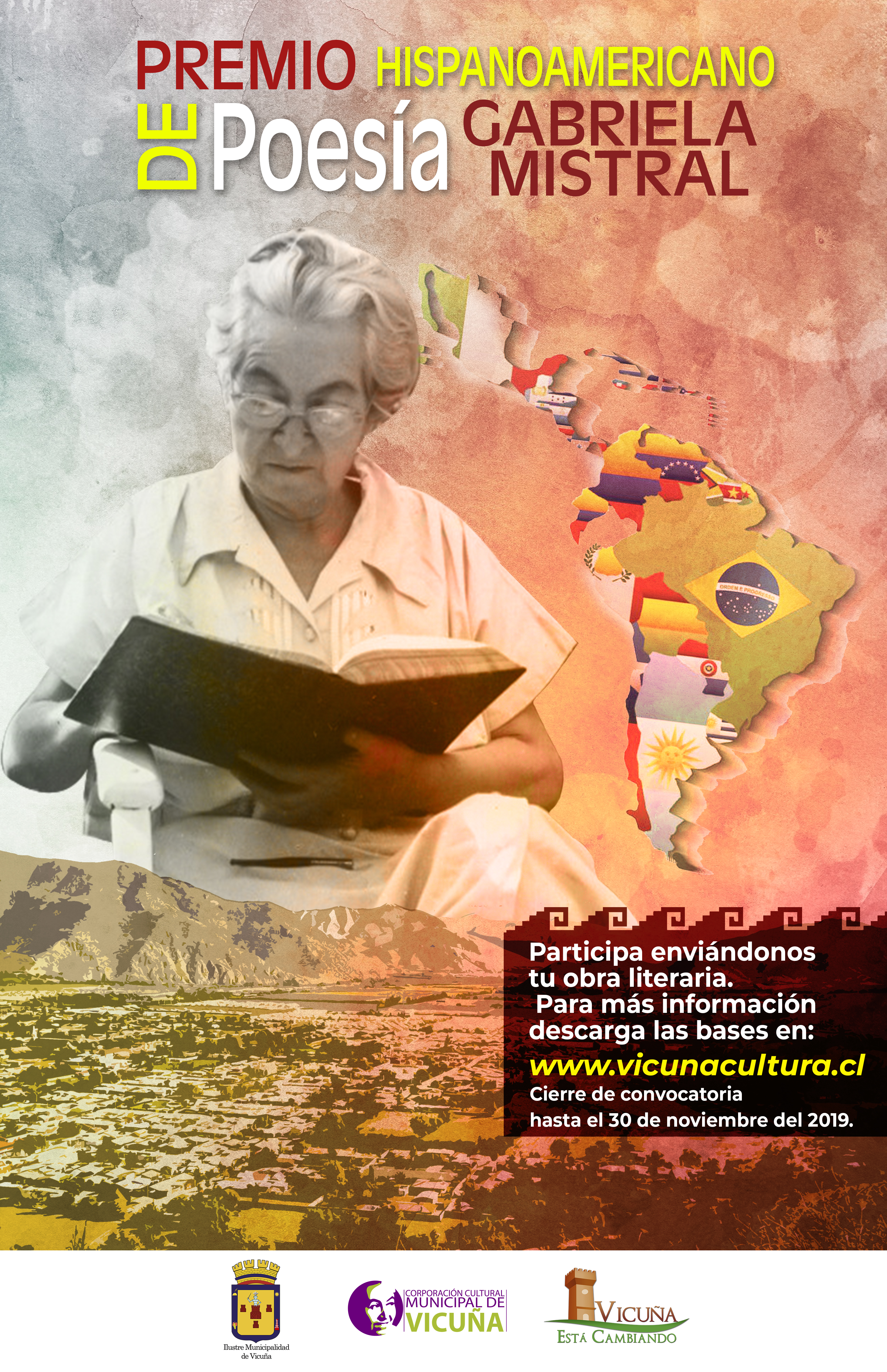 RESTAN 6 DÍAS PARA EL CIERRE DE POSTULACIÓN DE CONCURSO LITERARIO EN HOMENAJE A GABRIELA MISTRAL