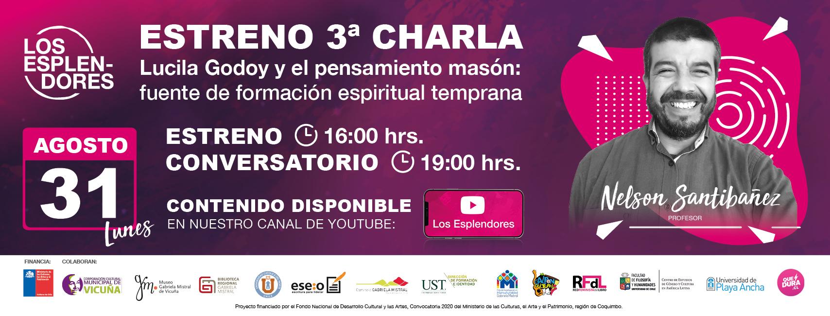 """""""Los Esplendores"""" estrenará su tercera charla gratuita en torno a Gabriela Mistral"""
